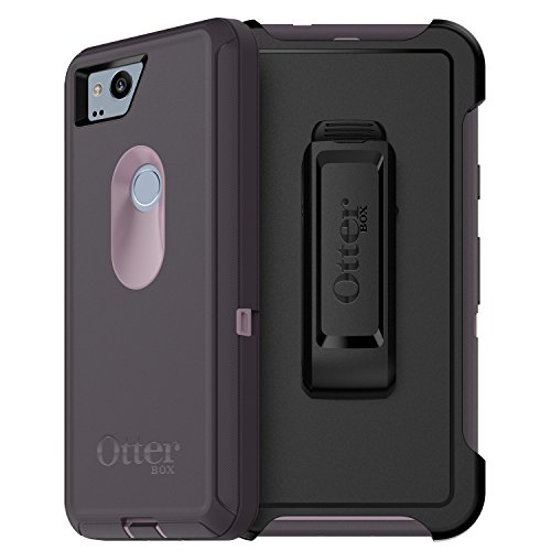 Protector Lavender Shield Case - OtterBox DEFENDER SERIES Case for Google Pixel 2 - Retail Packaging - PURPLE NEBULA (WINSOME ORCHID/NIGHT PURPLE)