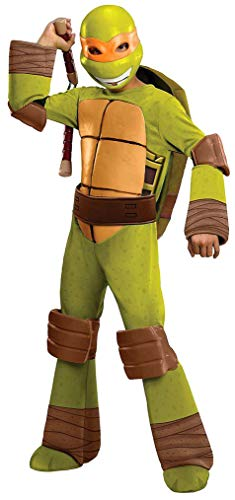 Ninja Costumes For Sale - Teenage Mutant Ninja Turtles Deluxe Michelangelo