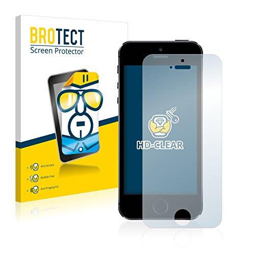 2x BROTECT HD-Clear Pellicola Protettiva Apple iPhone 5S Schermo Protezione – Trasparente, Anti-Impronte