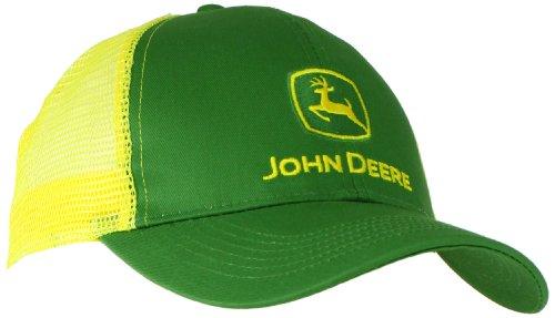 John Deere Embroidered Logo Mesh Back Baseball Hat - One-Size - Men's - Yellow