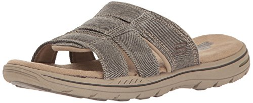 Skechers Usa Mens Evented Kasar Platt Sandal Khaki