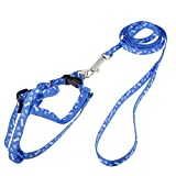 Uxcell Puppy Pet Rope Lead Adjustable Harness Leash Collar, Medium, Blue