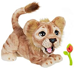 The Disney the Lion King mighty roar Simba interactive plush toy embodies all the fun, charm, and humor of animation most famous Lion Cub – and now he can come along with you on all new adventures! Roar at each other (who's the loudest?), pla...