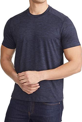 - UNTUCKit Cypress - Men's Performance T Shirt Short Sleeve Sports Gym Wokrout Tee X-Large-Regular Fit