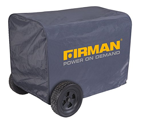 Firman Generator Cover - Large Black Nylon Water Resistant 5000 - 8000 Watt Portable Generator Cover 1009