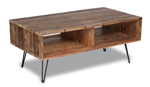 Coffee Wood Modern Tables (Belmont Home 42 inch Reclaimed Wood Coffee Table)