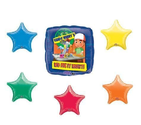 DISNEY HANDY manny birthday balloon kit 6 set party (Handy Manny Birthday Supplies compare prices)