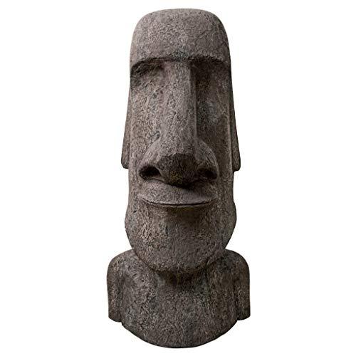 Design Toscano Easter Island Ahu Akivi Moai Monolith Garden Statue, Giant 72 Inch, Fiberglass Polyresin, Grey Stone ()