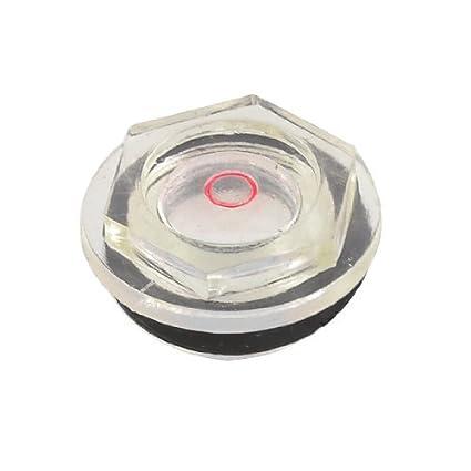 eDealMax 24mm rosca macho Dia del compresor de aire Parte del nivel de aceite Mirilla Claro Negro - - Amazon.com