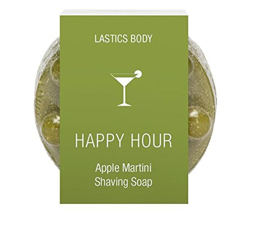 Lastics Body Happy Hour Apple Martini 3-in-1 Shave - Wash - Massage Shaving Soap - Happy Hour Invite