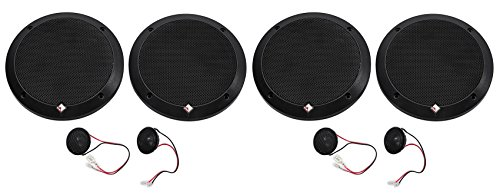 2-Pairs Rockford Fosgate P1675-S Punch 6.75'' 240w Car Audio Component Speakers by Rockford Fosgate