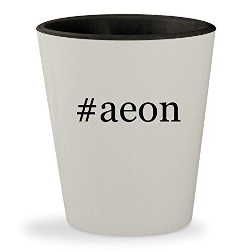 Aeon Flux Movie Costume (#aeon - Hashtag White Outer & Black Inner Ceramic 1.5oz Shot Glass)