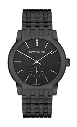 Wittnauer Mens WN3043 22mm Stainless Steel Black Watch Bracelet