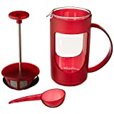 BonJour Ami-Matin Unbreakable BPA Free with Flavor Lock Brewing French Press, 3-Cup, Rouge Red