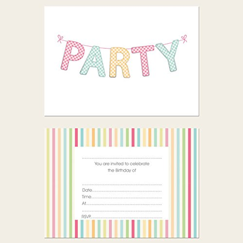 Pink Girls Party Invitations Amazoncouk Kitchen Home