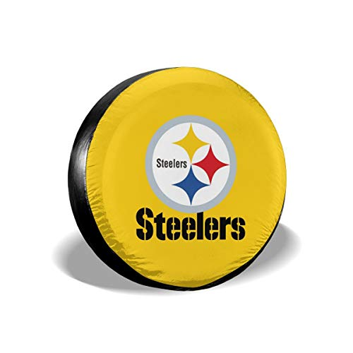 Sorcerer Custom Colorful Waterproof Tire Cover Pittsburgh Steelers American Football Team Unisex Protection Spare Covers Storage Wheel Cover for Car Off Road Truck ()