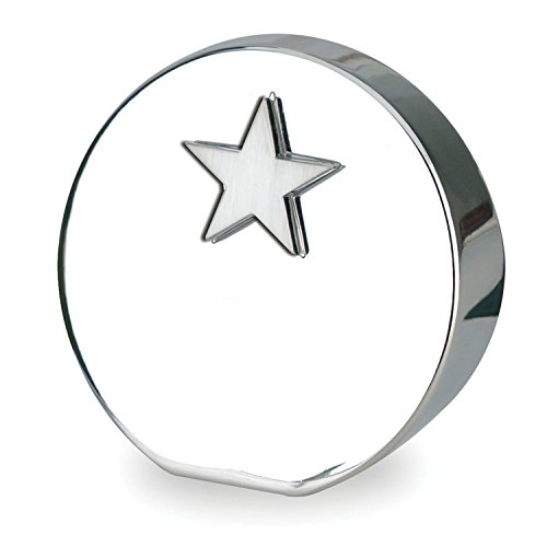 High Polished Star - 3-D award/paperweight with dimensional star molded icon. High-polished nickel finish with felt bottom. Silver