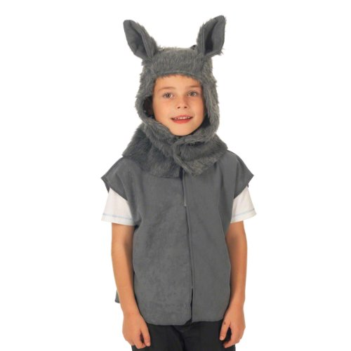 Wolf Costume for Kids. One Size. 3-9 (Three Little Pigs Costumes)