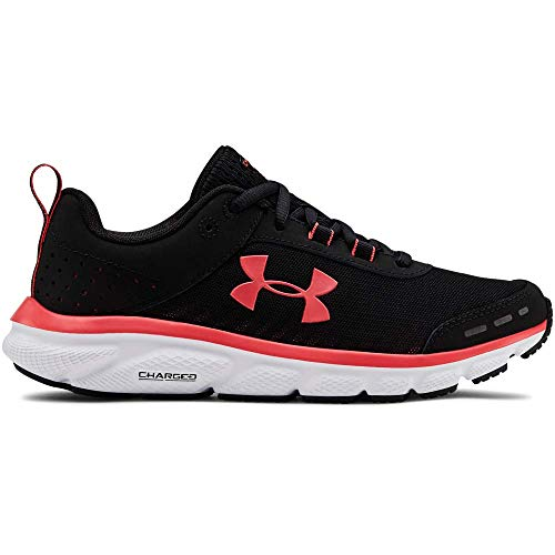 Under Armour Women's Charged Assert 8 Running Shoe, Black (003)/White, 7.5