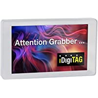 iDigiTAG 4M Digital Video Name Tag Badge 3 metal white