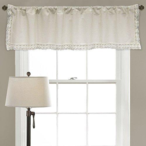 "Lush Decor Rosalie Window Curtain Valance Panel, 18"" x 54"","
