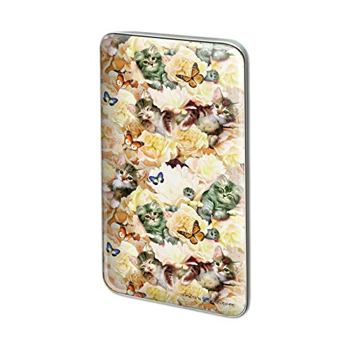 GRAPHICS & MORE Kittens Cats Yellow Flowers Butterflies Pattern Rectangle Lapel Pin Tie Tack
