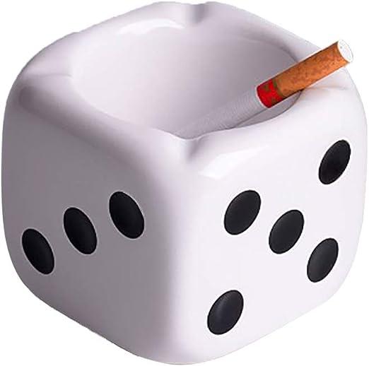 Square Dice Ashtray Ceramic Ash Tray Creative Gift for Smokers
