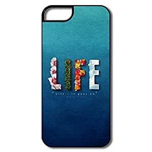 Alice7 Life Gos Case For Iphone 5,Funny Iphone 5 Case
