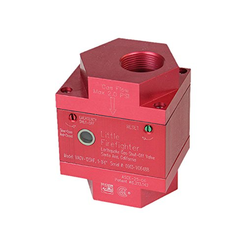 Firefighter Gas Safety Products VAGV-075 Vertical Seismic Gas Shutoff Valve by Firefighter Gas Safety Products