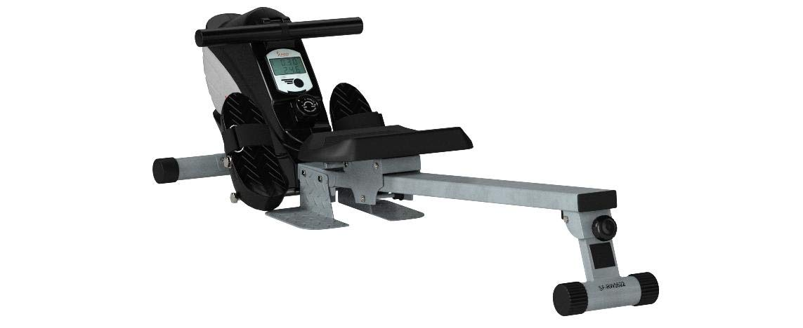 Sunny Health & Fitness Dual Function Magnetic Rowing Machine w/ Digital Monitor, Multi-Exercise Step Plates and Foldable -  SF-RW5622 by Sunny Health & Fitness (Image #22)
