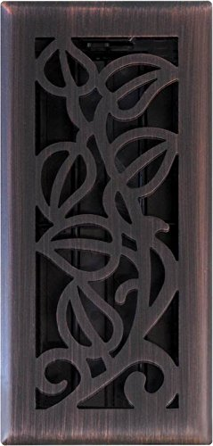 Imperial Manufacturing RG3279 4 x 10 in. Bronze Vine Floor Register