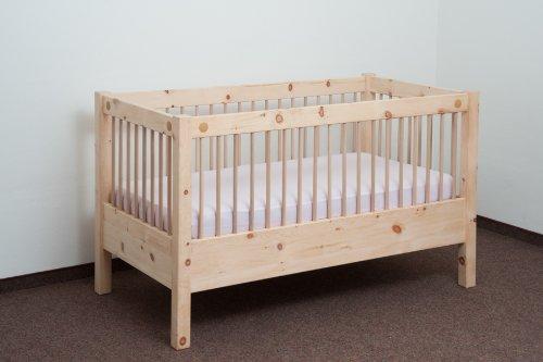 Gitterbett mit Lattenrost 70x140 cm Zirbenbett Kinderbett