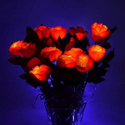 GlowCity Dozen LED Light Up Red Roses by GlowCity