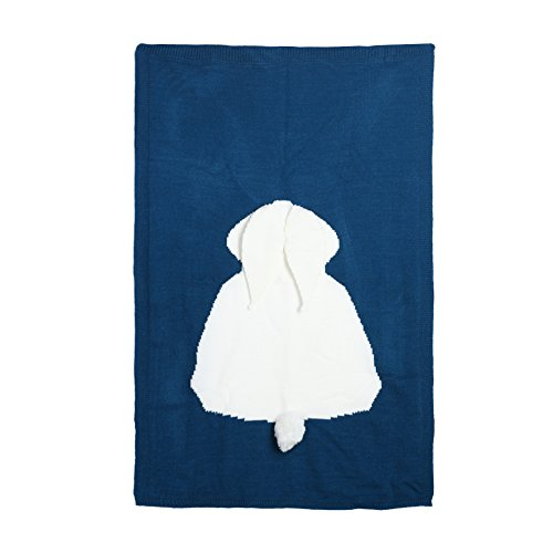 itted blanket Baby Cute Rabbit Blanket Soft Swaddle Kids Bath Towel ()