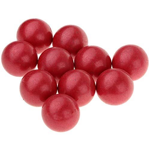Homyl 10 Unids Canicas De Vidrio Cuentas Cristales Decoración Para Florero Tanque - rojo, 25mm