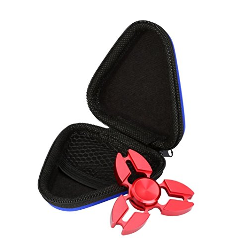 Price comparison product image Mchoice Gift for Fidget Hand Spinner Triangle Finger Toy Focus ADHD Bag Box Carry Case Packet (Blue)