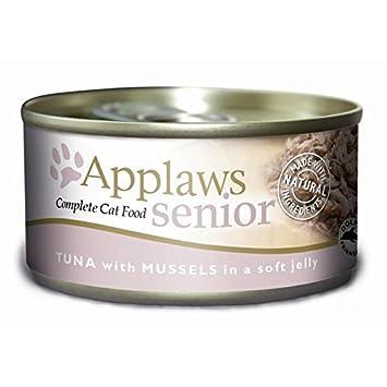 Applaws Gato Lata Senior Atún y Mejillones, Pack (24 x 156g): Amazon.es: Productos para mascotas