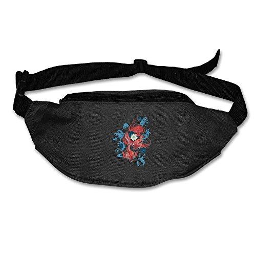 Alone Waist Bag Fanny Pack Koi Fish Unisex Outdoor Sports Pouch Running Belt Fitness Travel Pocket Purse