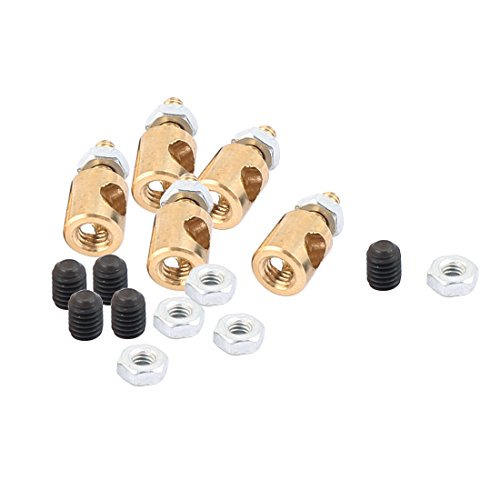 uxcell 5pcs 5mmx3.0mm Metal RC Airplane Stopper Servo Connectors with Screws Nuts
