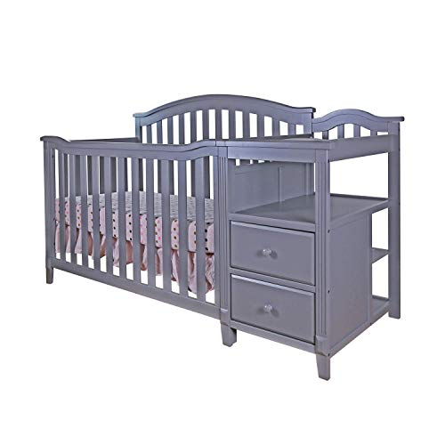 (AFG Kali 4-in-1 Crib with Changer Grey )