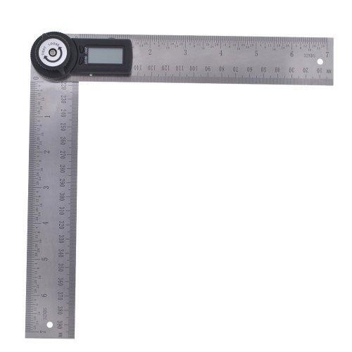 2-in-1 Digital Angle Finder Meter Protractor Ruler Rule 360° Measure 2x200mm