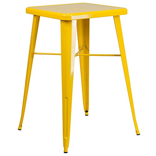 SuperDiscountMall Premium Quality Yellow Square Bar Height Table CH-31330-YL-GG by SuperDiscountMall