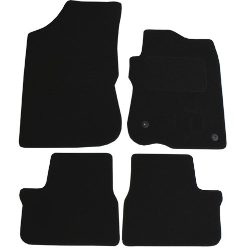 JVL Fully Tailored 4 Piece Car Mat Set with 2 Clips