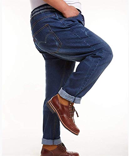 Cowboy Vita Alta In Elastico Più Da Uomo A Dritta Marineblau Con Pantaloni Battercake Gamba Comodo qwxgATIEc1