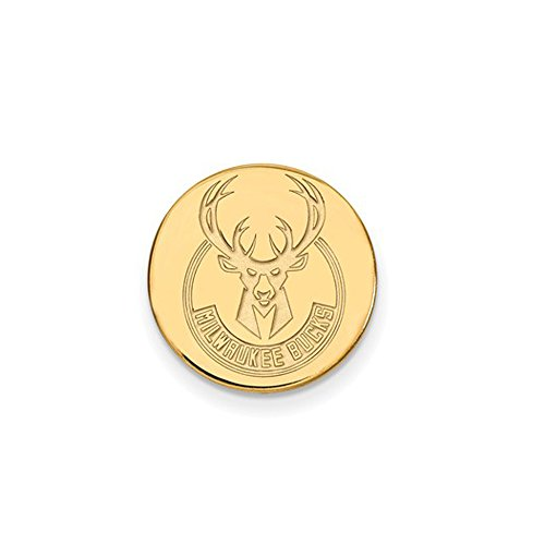 NBA Milwaukee Bucks Lapel Pin in 14K Yellow Gold by LogoArt