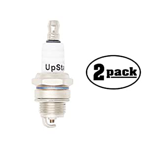 2-Pack Compatible Spark Plug for LAWN & GARDEN Trimmer EXZ2500S, HEZ2500S, PSZ2500 - Compatible Champion RCJ7Y & NGK BPMR6F Spark Plugs