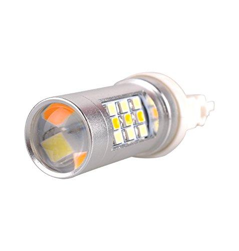 AutoEC 2X Amber/White Switchback Dual Color 3535 SAMSUNG Chip LED Turn Signal Light Bulb