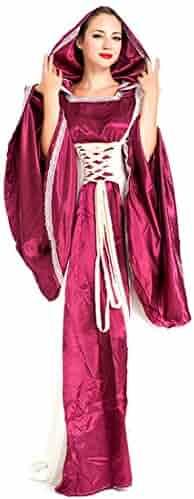 246b5401b663 MV Purple Vintage European Court Big Red Halloween Queen Medieval Evening  Dress