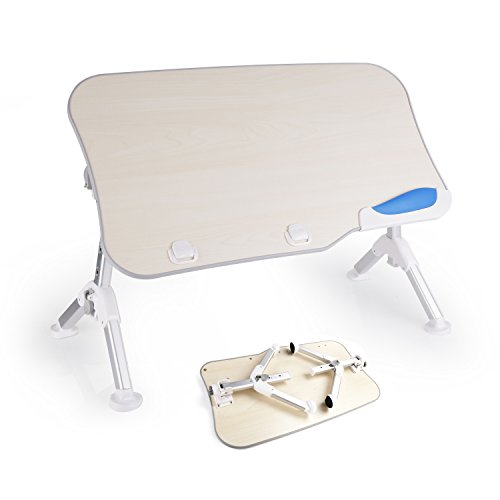Laptop Table for Bed (Large Size), GVDV Adjustable Notebook Stand Portable Reading Holder Folding Tray Table for Sofa Couch Floor Picnic