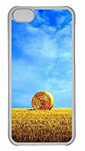 Wheat World Protective Hard Plastic Back Fits Cover Case for iphone 5C Transparent-1122031